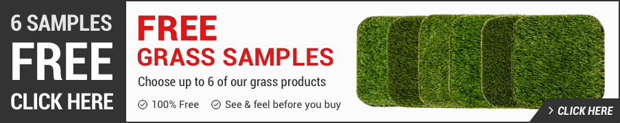 Order free artificial grass samples banner