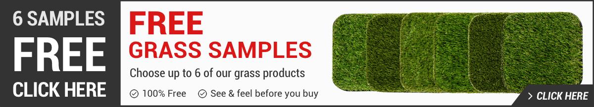 Order free artificial grass samples banner
