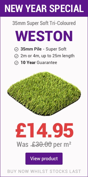 Weston Artificial Grass Offer banner